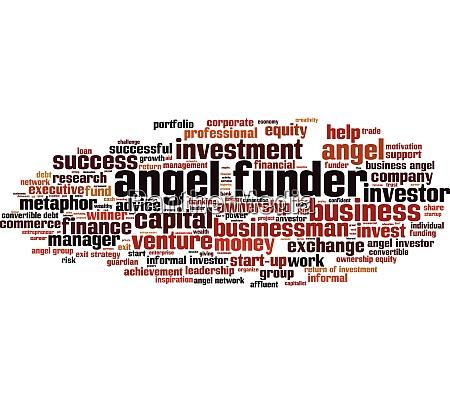angel funder word cloud