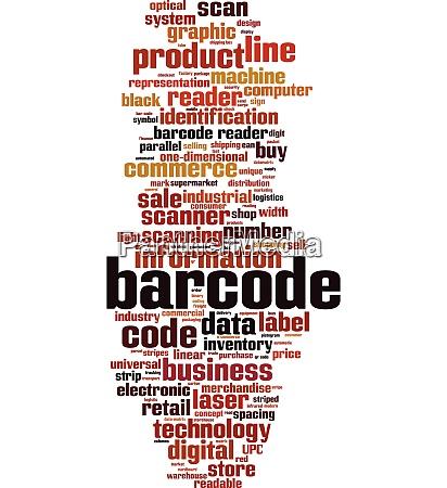 barcode word cloud