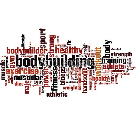 bodybuilding word cloud