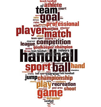 handball word cloud