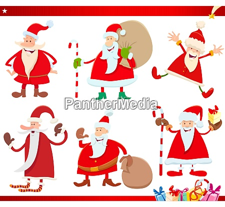 santa claus on christmas time cartoon