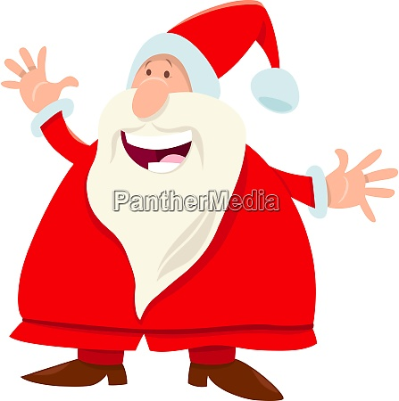 funny santa claus cartoon character with