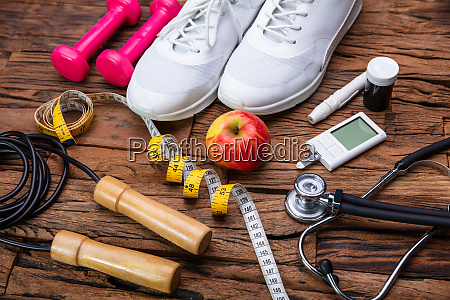 sports equipment and glucometer