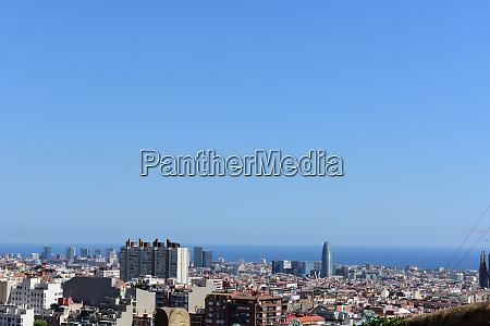 view from park gueell on barcelona