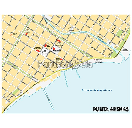 city map of the southern chilean