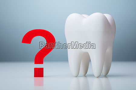 question mark near tooth