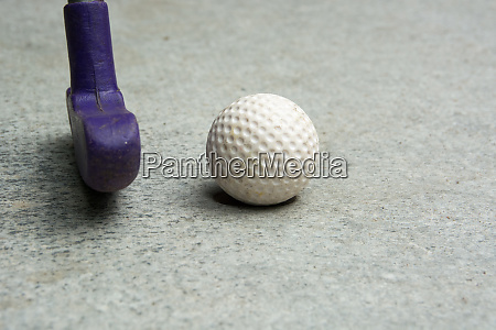 miniature golf detail of ball and
