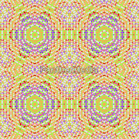 regular hexagon pattern orange green red