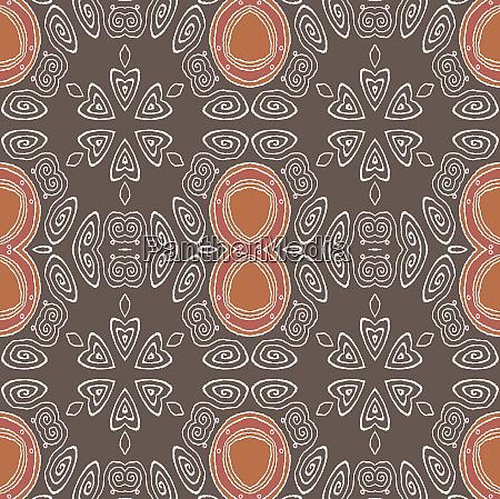 regular ellipses and spiral ornaments brown