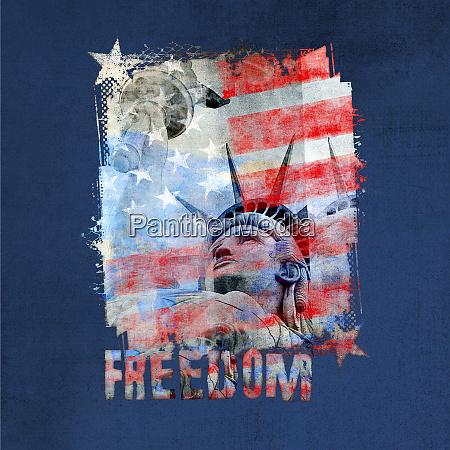 patriotic lady liberty stars and stripes