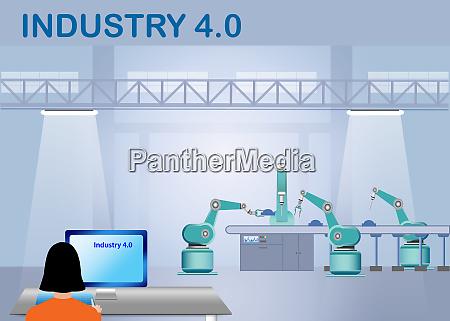 industry 40 smart factory control concept
