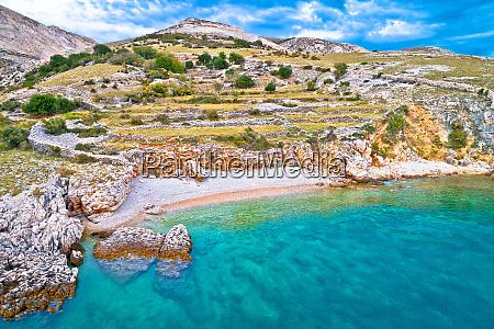 island of krk idyllic pebble beach