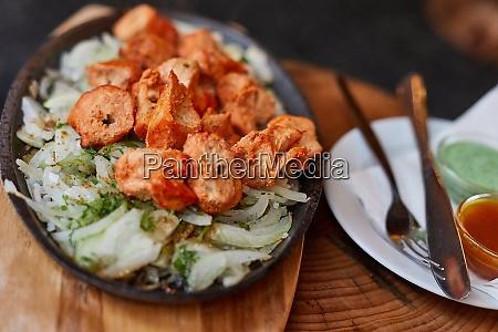 chicken tikka india dish