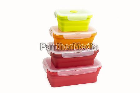 colorful plastic boxes