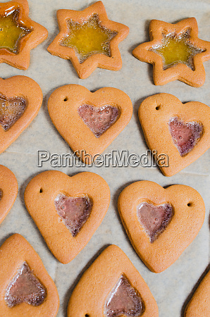 freshly baked christmas gingerbread ready to