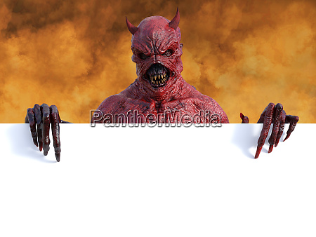 3d rendering of a devil in