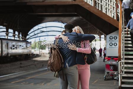 a farewell hug