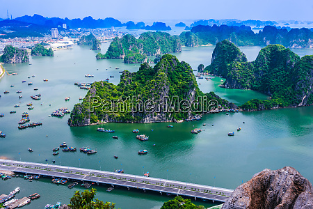 panoramic view of ha long bay