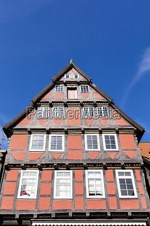 half timbered gable of a historic