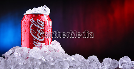 can of coca cola with crushed