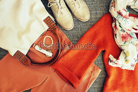 autumn female outfit set of clothes
