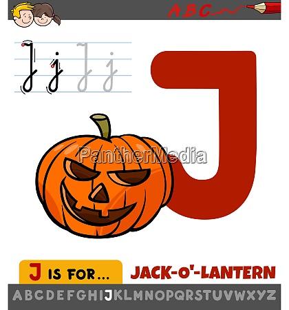 letter j worksheet with cartoon jack