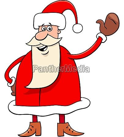 santa claus cartoon christmas character