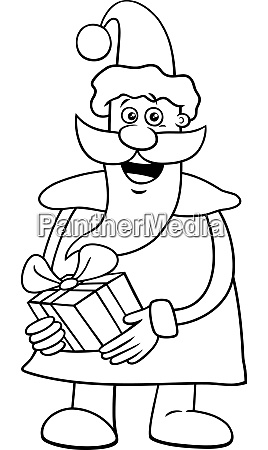 santa claus on christmas time coloring