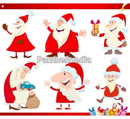santa claus on christmas time cartoon