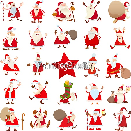 santa claus christmas cartoon characters large