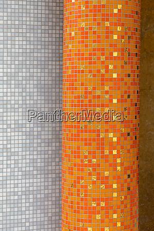 orange tiles pillar