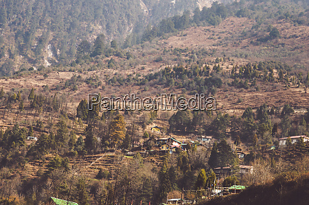 picturesque mountain valley landscape scenery in