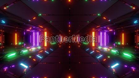 futuristic sci fi space tunnel corridor