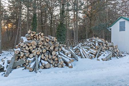 firewood cabin