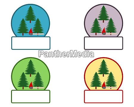 emblem mit feuersymbol und textfreiraum