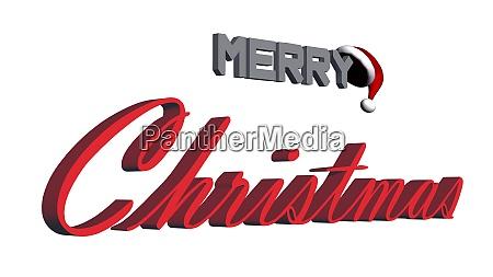 merry christmas 3d lettering