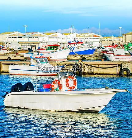 peniche harbor fishing boats docks