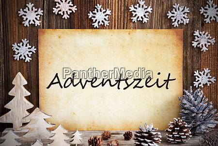 old paper christmas decoration adventszeit means