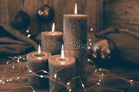 christmas decoration in retro style