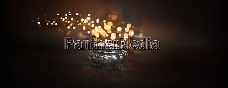atmospheric candle light with dark background