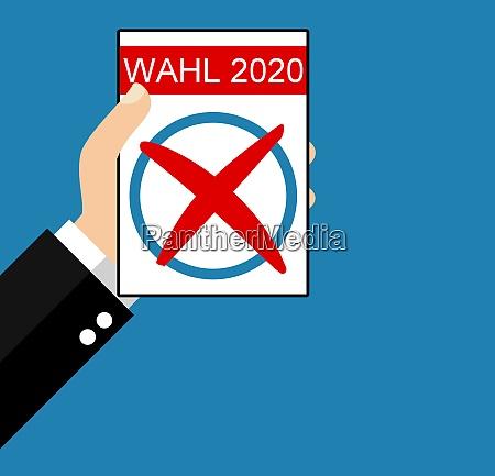 election 2020 german flat design