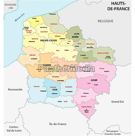 administrative map of the new french