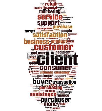 client word cloud