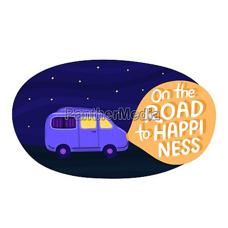 van life concept night sky with