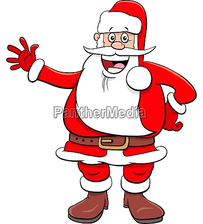 santa claus funny cartoon character on