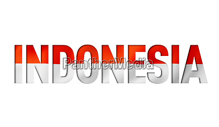 indonesian flag text font