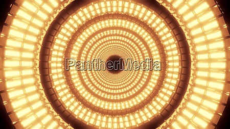 endless round abstract glowing colorful design