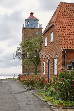 lighthouse tower in svaneke on the