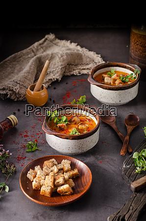 pumpkin chilli soup