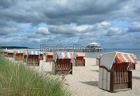 beach of timmendorfer strand at baltic